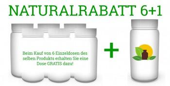 Naturalrabatt 6+1 Alpha Liponsäure 300mg bioaktive R (+) Form  7 x 100 vegetarische Kapseln