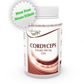 Cordyceps sinensis CS-4 Extrakt 500mg 100 Kapseln