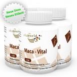 3er Pack Maca Vital 380mg + Vitamin C und E 360 Kapseln