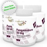 3er Pack Pangamsäure Vitamin B15 50mg 360 Vegi Kapseln