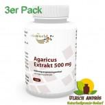 3er Pack Agaricus Extrakt 500mg 300 Kapseln