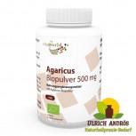Agaricus Pulver Bio Qualität 500mg 120 Kapseln