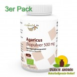 3er Pack Agaricus Pulver Bio Qualität 500mg 360 Kapseln