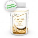 Curcuma Extrakt 500mg + Bioperine 120 Vegi Kapseln 95% Curcumin