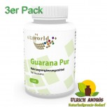 3er Pack Guarana pur 500mg 360 Kapseln