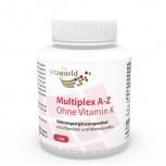 Multiplex Multivitamin A-Z ohne Vitamin K 120 Vegi Kapseln