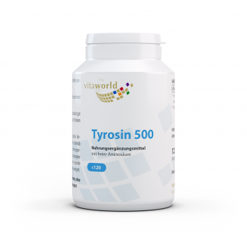L-Tyrosin 500mg 120 Kapseln Vegan/Vegetarisch