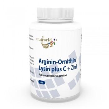 Arginin-Ornithin-Lysin Plus C + Zink 60 Kapseln