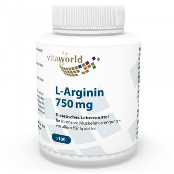 L-Arginine 750mg 100 Capsules