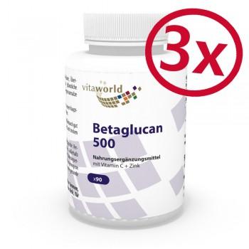Pack di 3 Beta-glucano 500mg 270 Capsule