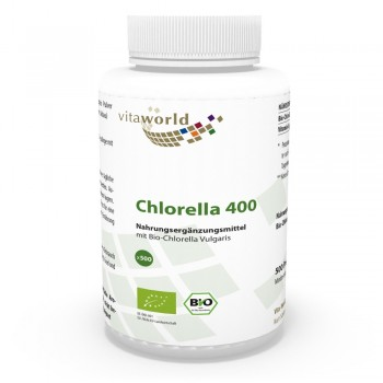 Organic Chlorella Vulgaris 400mg 500 Tablets Clorella