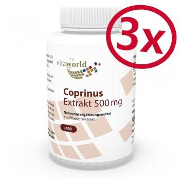 3er Pack Coprinus Extrakt 500mg 300 Kapseln