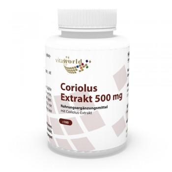 Coriolus versicolor Extrakt 500mg 100 Kapseln