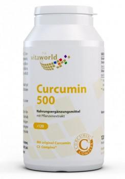 Curcumin 500mg 120 Vegi Kapseln Kurkuma Curcuma C3 Complex Piperin