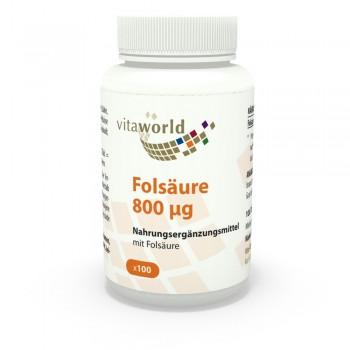 Folsäure 800μg 100 Tabletten