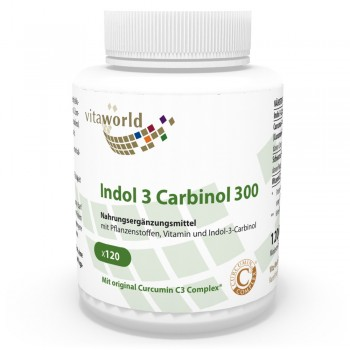 Indole 3 Carbinol 300mg 120 Vegetarian Capsules Curcumin C3 Complex Black Pepper Extract 50:1