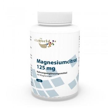 Magnesium Citrate 125mg 120 Capsules Vegetarian/Vegan