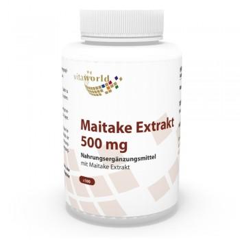 Maitake Extrakt 500mg 100 Kapseln Vegetarisch/Vegan