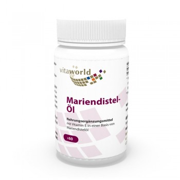 Mariendistelöl 1000mg + Vitamin E 10mg 60 Kapseln