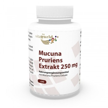 Juckbohne - Mucuna Pruriens Extrakt 250mg 240 Vegi Kapseln
