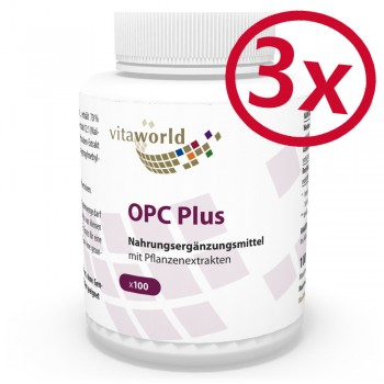 3 Pack OPC plus 200mg 300 Capsules