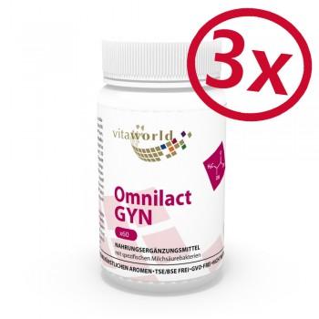 3 Pack Omnilact Gyn 3 x 60 Capsules Vegetarian/Vegan   (Lactobacillus, probiotic)