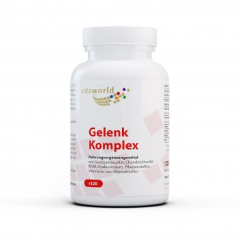 Joint Complex 120 Capsules with Glucosamine Sulfate, Chondroitin Sulfate, MSM, Hyaluronic acid, Plant substances, Vitamins and Minerals
