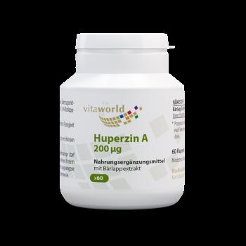 Huperzin A 200 mcg aus Bärlapp-Extrakt 60 Kapseln Vegetarisch/Vegan