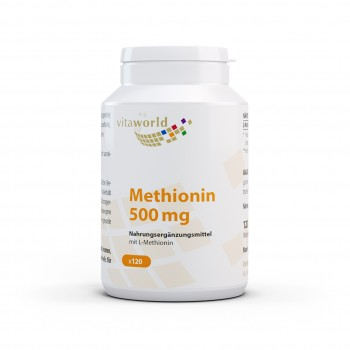Methionine 500 mg 120 Capsules Vegetarian/Vegan