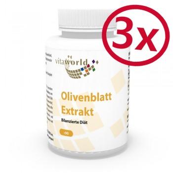 3er Pack Olivenblatt-Extrakt 335mg 20% Oleuropein 270 Vegi Kapseln