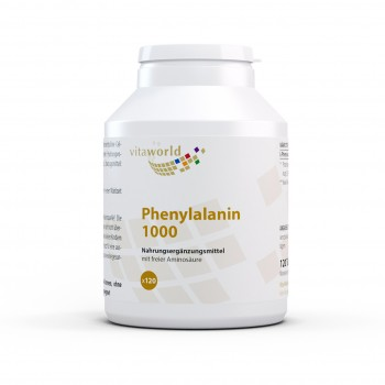 Phenylalanine 1000 mg HIGH DOSAGE Free from Magnesium Stearate 120 Tablets Vegan/Vegetarian