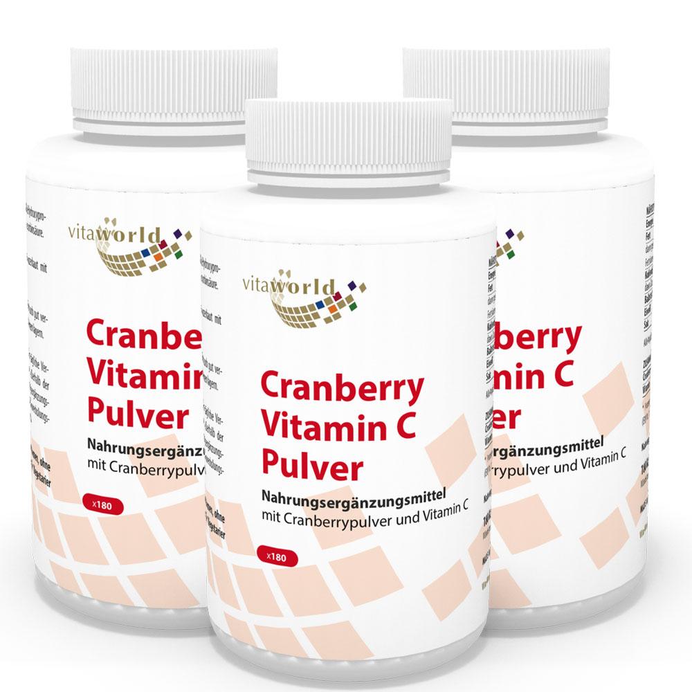 3er pack cranberry 400mg vitamin c 540 kapseln n160. Black Bedroom Furniture Sets. Home Design Ideas