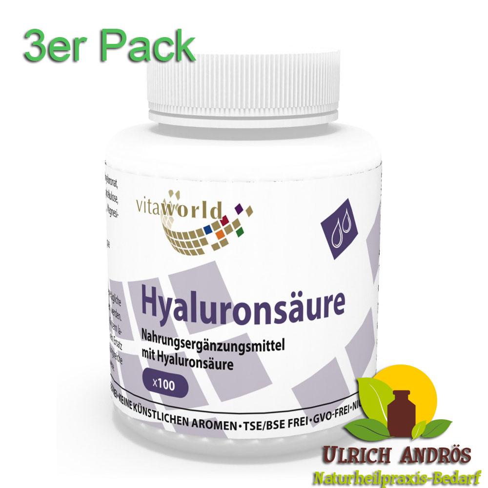 3er pack hyalurons ure 100mg 300 kapseln n170. Black Bedroom Furniture Sets. Home Design Ideas