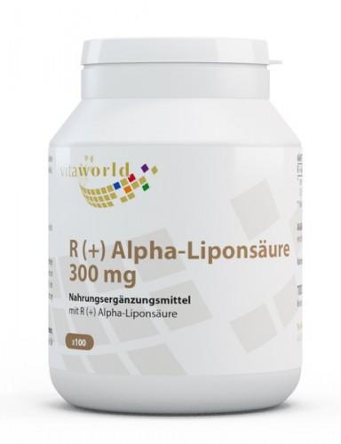 Alpha Liponsäure 300mg bioaktive R (+) Form  100 vegetarische Kapseln
