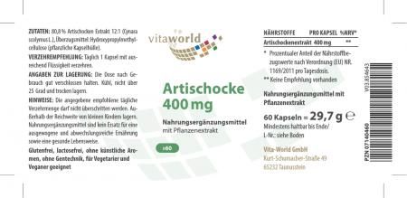 Discount 6+1 Artichoke 400mg 7 x 60 Capsules