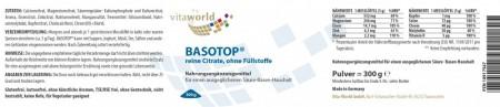 3er Pack Basotop Pulver reine Citrate 900g ohne Füllstoffe