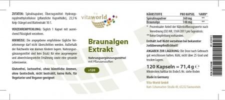 3er Pack Braunalgen Extrakt 500mg 360 Vegi Kapseln