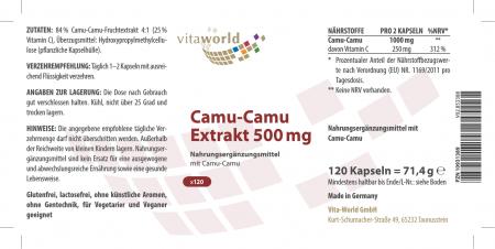 3er Pack Camu-Camu Extrakt 500mg 360 Vegi Kapseln