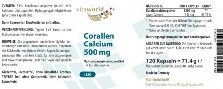 Coral Calcium 500mg 120 Capsules