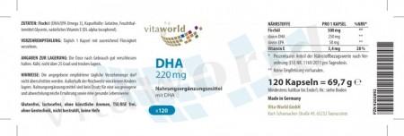3er Pack Omega 3 DHA 220mg 3 x 120 Kapseln