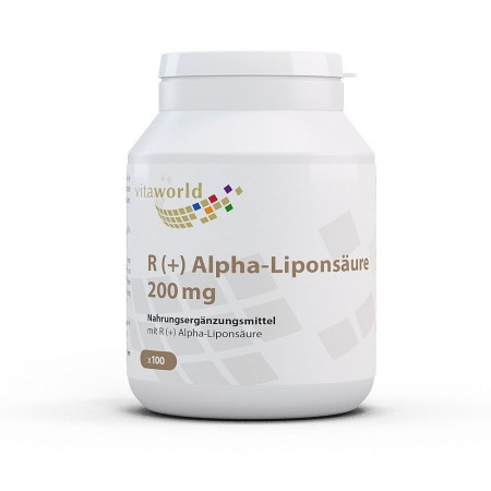 R (+) Alpha-Lipoic Acid 200 mg 100 Capsules Vegan/Vegetarian