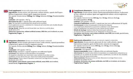 Extracto de Aronia 500 mg 120 Cápsulas