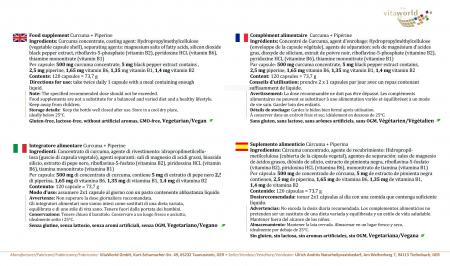 Curcuma 500mg + Bioperine®  120 Capsule