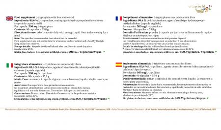 L-Tryptophan 500mg 90 vegetarische Kapseln