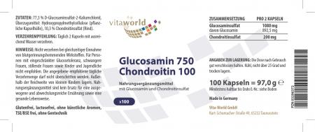 Naturalrabatt 6+1 Glucosamin 750mg Chondroitin 100mg  7 x 100 Kapseln