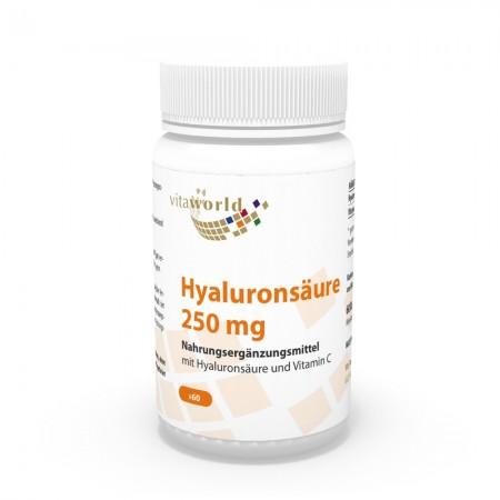Hyaluronsäure 250mg + Vitamin C 60 Kapseln Vegetarisch/Vegan