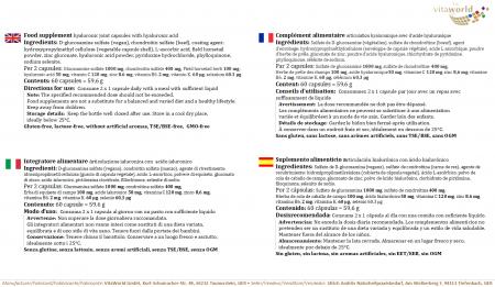 Articulación Hialurónica 60 Cápsulas