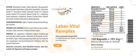 Complexe Leber-Vital 120 Capsules Vegan / Végétarien