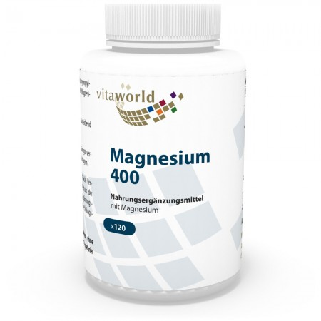 Magnesium 400mg 120 Capsules Vegetarian/Vegan