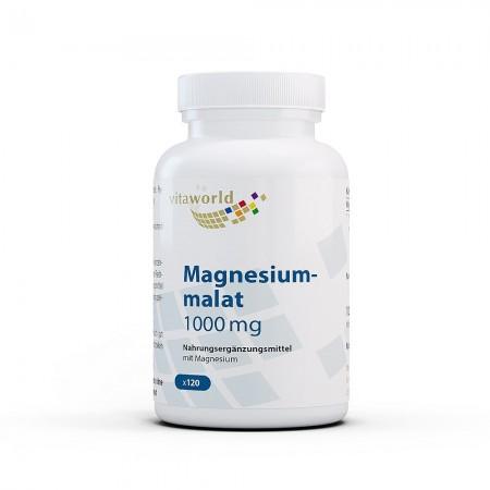 Magnesiummalat 1000mg 120 Kapseln Hochdosiert Vegan und Frei von Zusatzstoffen 150 mg Elementares Magnesium pro Kapsel